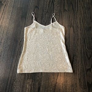 Express sequin top